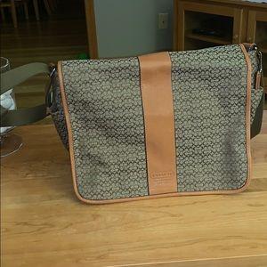 Coach tan brand new laptop bag